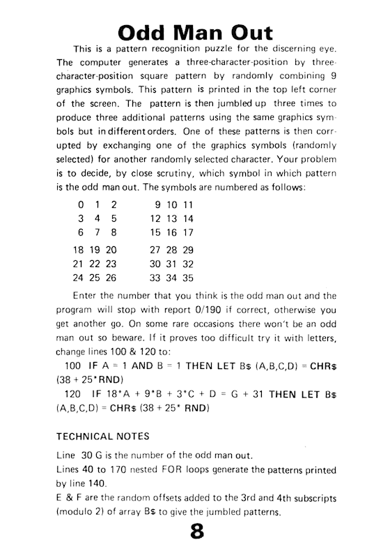 30 Programs For The ZX81 - Page 8