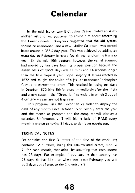 30 Programs For The ZX81 - Page 48