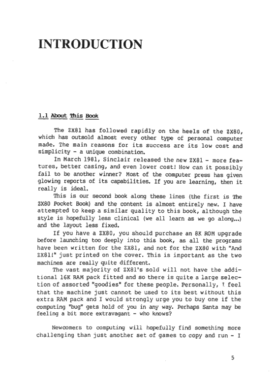 The ZX81 Pocket Book - Page 5