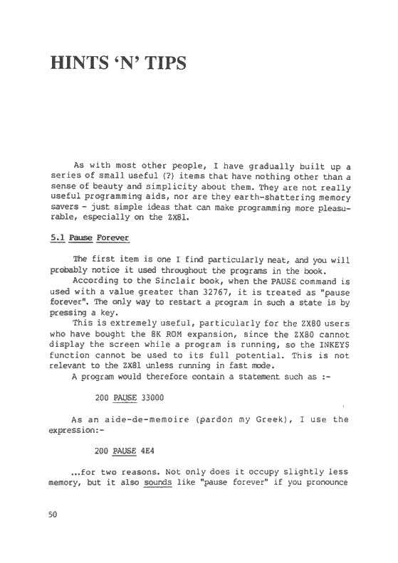 The ZX81 Pocket Book - Page 50