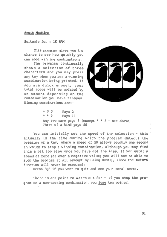 The ZX81 Pocket Book - Page 91