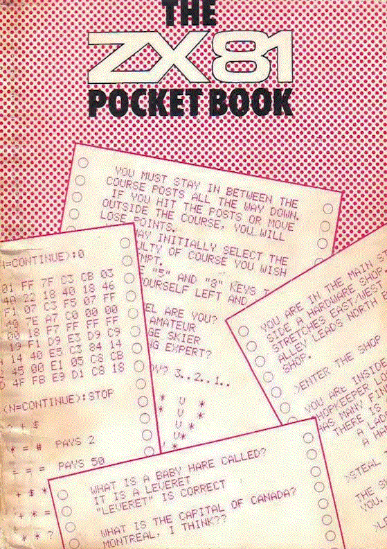 The ZX81 Pocket Book - Front Cover